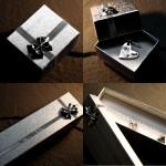 srebrne pudełka na biżuterię